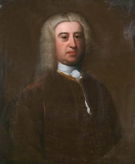 James Harris of Salisbury 1709-1780 *oil on canvas *77 x 64 cm *inscribed verso: James Harris of the..., Salisbury / Author of the ''chara...ties'', and grandfather of the first Lord Malmesbury. Married the ...Elizabeth Ashley...of the...rd Earl of Shaftsbury. Died..1733